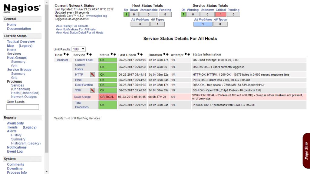 Install Nagios 4.3.4 on Debian 9 Stretch - Services