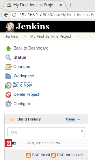 Install and Configure Jenkins on Debian 9 - Building Project