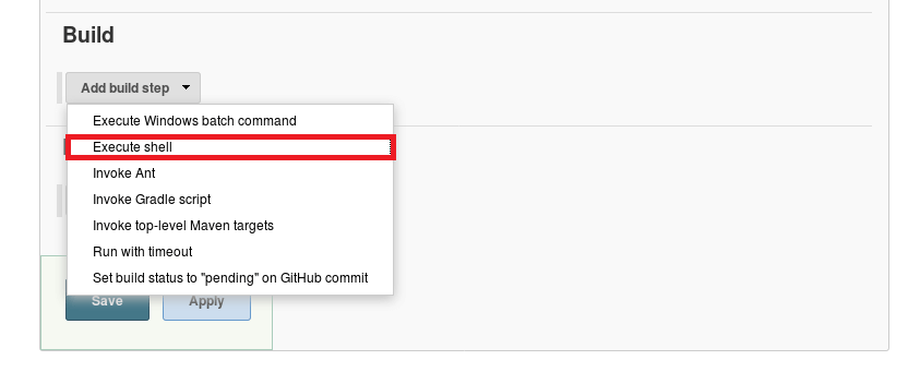 Install and Configure Jenkins on Debian 9 - Execute Shell