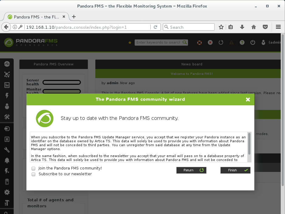 Install PandoraFMS Server on CentOS 7 - Newsletter