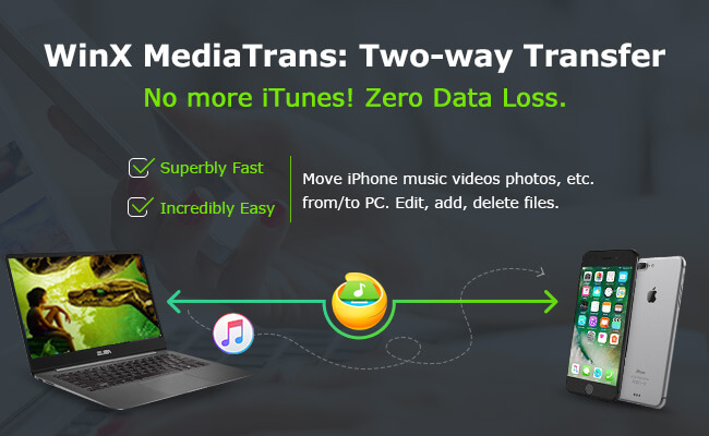 WinX MediaTrans - Transfer from iPhone to PC
