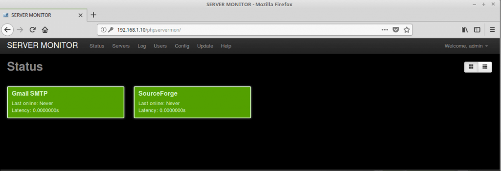 Install PHP Server Monitor on Ubuntu 16.04 - PHP Server Monitor Dashboard