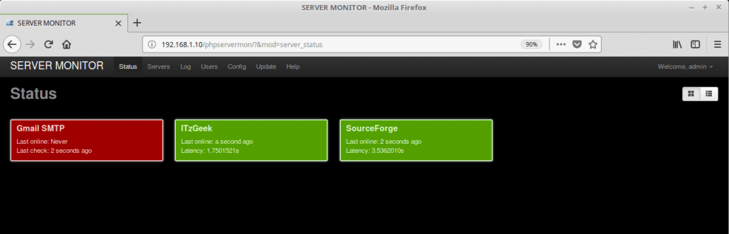 Install PHP Server Monitor on Ubuntu 16.04 - Updated Status Check