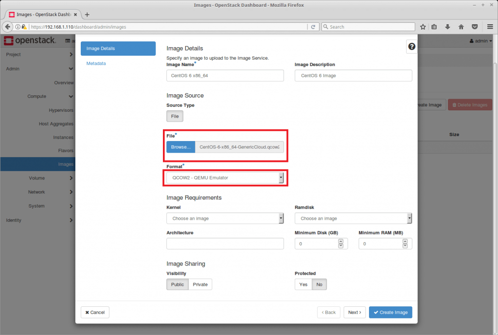 Launch an OpenStack Instance - Create OpenStack Image