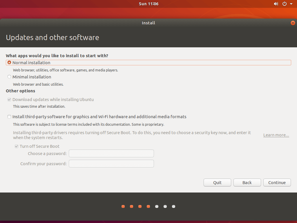 Install Ubuntu 18.04 Alongside With Windows 10 - Installation of updates and other softwares