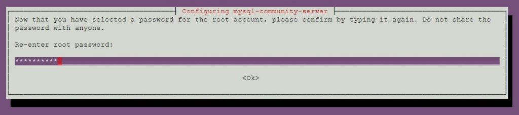 Install MySQL 5.7 on Ubuntu 18.04 - Confirm root Password