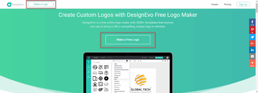 How to Design and Customize An IT Logo for Blogs - Make a Logo