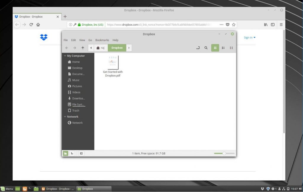 Install Dropbox on Linux Mint 19 - Dropbox on Linux Mint 19