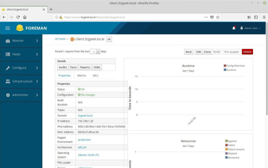 Add Puppet Nodes to Foreman - Detailed Information of Added Puppet Node