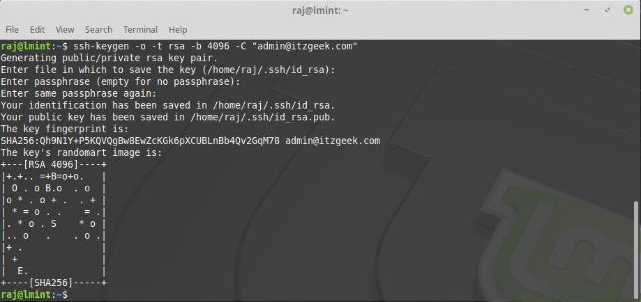 Install and Configure GitLab on CentOS 7 - Generate SSH key Pair