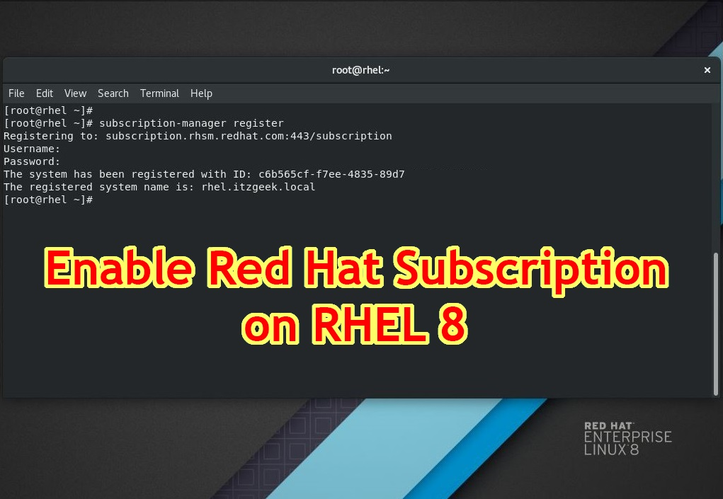 How To Enable Red Hat Subscription on RHEL 8 - Centos/Redhat