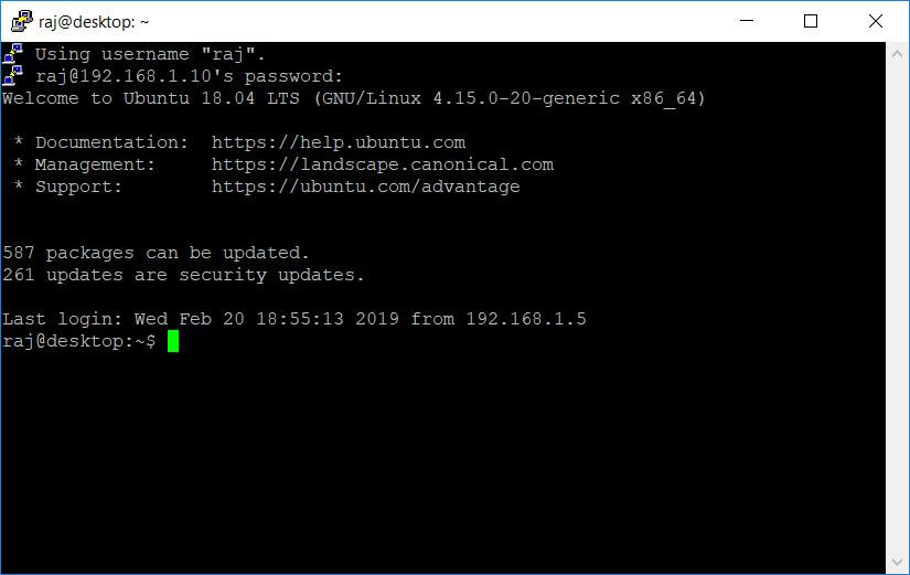 SSH Remote Acess From Windows