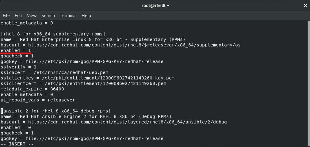 Enable Red Hat Subscription on RHEL 8 - Enable Red Hat Repository