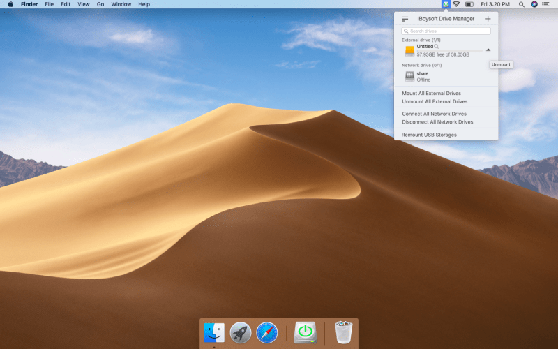 Write to NTFS drives on Mac with iBoysoft Drive Manager