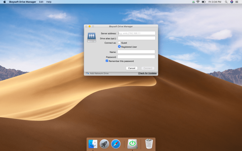 Add network drives using iBoysoft Drive Manager: