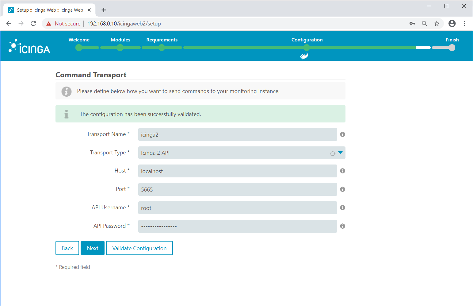 Icinga 2 API Command Transport