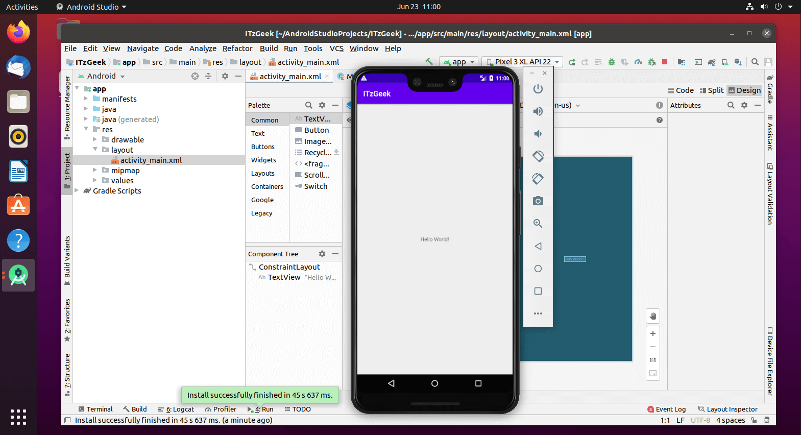 Android Studio Running on Ubuntu 20.04