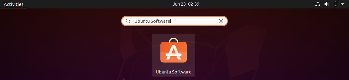 Open Ubuntu Software