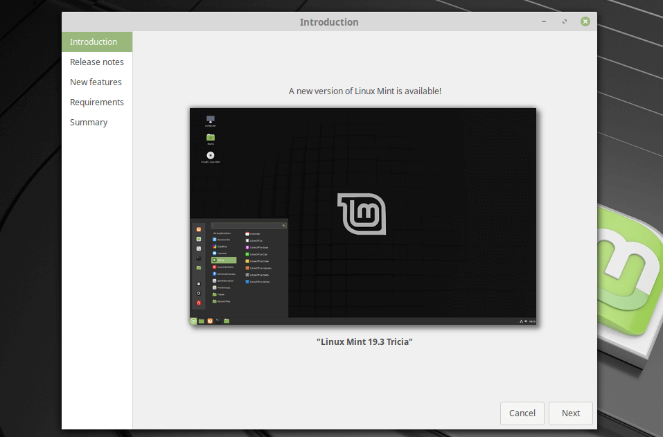 Upgrade Linux Mint